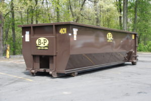 A Picture Of A Dumpster From Ashland, MA Rental Company - B-P Trucking Inc