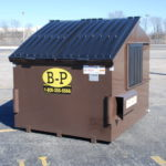 Eight-yard container from dumpster rental company B-P Trucking, Inc. in Ashland, MA