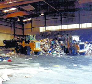One of the transfer stations for recycling services from B-P Trucking, Inc. in Ashland, MA