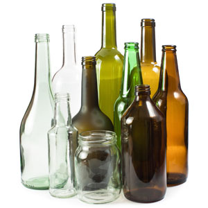 Glass bottles that can be recycled through B-P Trucking, Inc. in Ashland, MA