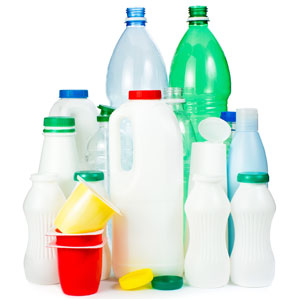 Plastic bottles and cartons that can be recycled through B-P Trucking, Inc. in Ashland, MA