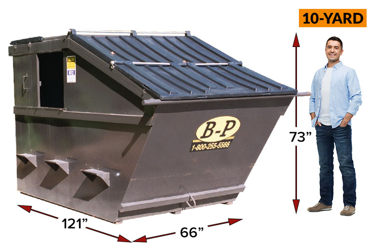 10 Yard Front Load Containers at B-P Trucking Inc