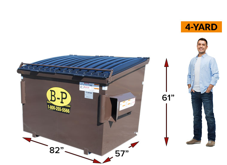 A 4-yard rear load container by B-P Trucking Inc
