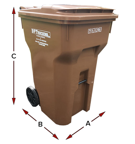 A cart for trash, recycling, and organic compost by B-P Trucking Inc
