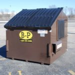 An eight-yard container by B-P Trucking Inc
